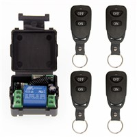Mini Wireless RF Remote Control Light Switch 10A Relay Output Radio DC 12V 1 CH Channel 1CH Receiver Module +Transmitter