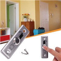 Stainless Steel Door Bell Ringer Chime Press Button Knob Keys Silver Home