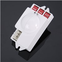 Microwave Radar Sensor 220V-240V AC / 50Hz Mayitr Radar Sensor Switch Body Motion Detector For LED Light