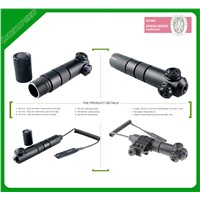 Military rifle IPX8 waterproof long distance green laser sight scope for hunting with pressure switch