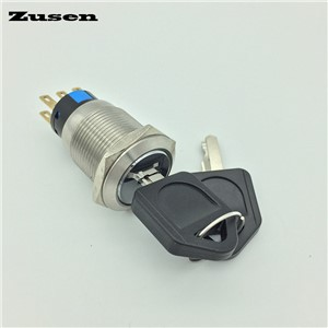 Zusen 19mm NEW GQ19F-22Y/31/S  3 position lock Metal Key Switch