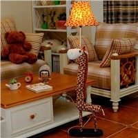 Cartoon Floor Lamp for living room  Decoration lighting cloth Animal Giraffe Kids birthday Gift Floor Light For Bedroom