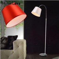 Big Promotion 2016 Modern Bedroom Floor Lamp Light with E27 Bulbs lamparas de pie 10W Fabric Lampshade Reading Lights Book Lamps
