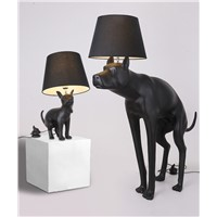 Floor lamp. The floor lamp of the pooch dog