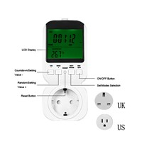 New TS-4000 Multi-function Smart Home Thermostat Timer Switch Socket with Sensor Probe UK/US/EU Plug Remote Control Switch
