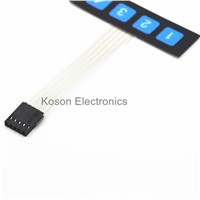 1 row 4 key membrane switch/Matrix keyboard/ Thin film button control panel Single chip microcomputer extended keyboard