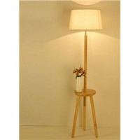 Floor lamp. Living room. Solid wood vertical bedside lamp