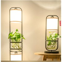 Chinese floor lamp. Creative and vertical desk lamp. Iron art study bedroom floor lamp