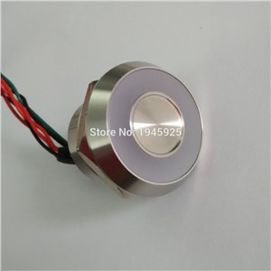 22mm IP 68 waterproof touch sensor piezo switch with RED/GREEN color ring illumination