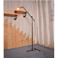 American retro floor lamp Industrial wind iron floor lamp Creative water pipe floor lamp