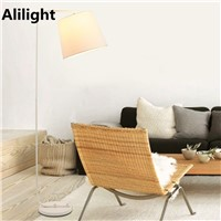 Modern Metal Floor Lampcreative Retro Cloth American Floor Light Standing Lamp for Studio Living Room Bedroom Bedside Fixture