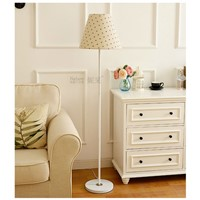 floor lamps for foyer bed room study living room with fabric lampshade Standing Lamps include E27 LED bulb decorative lighting
