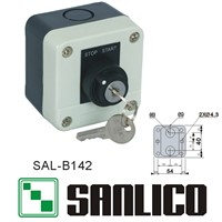 waterproof control box push button switch station (LA68H-B XAL)SAL-B142 rotary selector key lock switch 2-positions