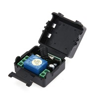 12 Volt Luggage Single Open Receiver + DC 12v Metal Wireles Two Key Remote Control Switch Controller Transmitter