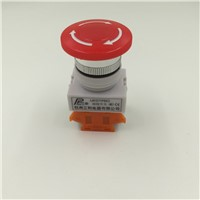 Red Mushroom Cap 2NC DPST Emergency Stop Push Button Switch AC 660V 10A e-stop switch