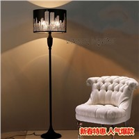 Simple fashion Nordic black floor lamp bedroom study room living room creative decorative vertical desk lamp Postage free