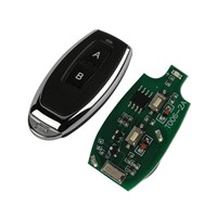 QIACHIP 433Mhz Wireless Remote Control Switch DC 12V 2CH RF Relay Receiver Module + 433 Mhz Transmitter Remote Controls Key Fob