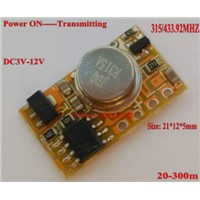 EV 1527 Remote Control Micro Radio Transmitter PCB 315/433 1CH Input Power Transmitting Signal for Car Bus Truck GSM Home Alarm