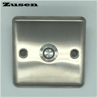 Zusen 19mm door light switch  Door bell push button switch with blue LED light