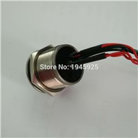19mm touch sensor piezo button switch with 5V DC RED/GREEN/BLUE three color ring illumination