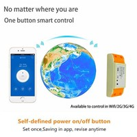 2017 Hot 1CH 7-24V DC WIFI Switch Controlled by Cellphone APP, 433mhz Wireless Remote Control Switches RF For Home Light