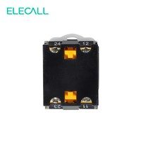 ELECALL Self-locking LAY38-11X/21 Knob Switch Silver Contacts Switch 2 Position Rotary Switches