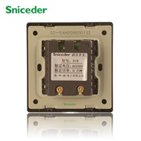 Scinder wall switch and socket type 86 champagne gold wire resistive mixer switch speaker volume controller