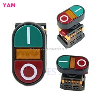 Red Green Light Indicator Momentary Switch Power Start Stop ON OFF Push Button #G205M# Best Quality
