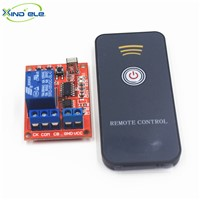 XIND ELE IR Remote Control Switch Learning Module 5V DC 1 way Relay, 1-key Transmitter, Female plug connector wire, IR05-1LM+PM1