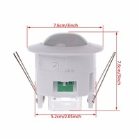 110-240V AC Adjustable Ceiling PIR Infrared Body Motion Sensor Detector Lamp Light Switch S18