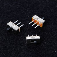 10Pcs/Set 2 Position On/Off SPDT 1P2T 3 Pin PCB Panel Mini Vertical Slide Switch SS12D00G3