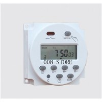 Hot Selling CN101 DC 12V Digital Round LCD Power Programmable Timer Time Relay 16A Switch Support 17-times Daily Weekly Program