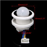 40mm LED PIR Detector Infrared Motion Sensor Switch with Time Delay Adjustable L25