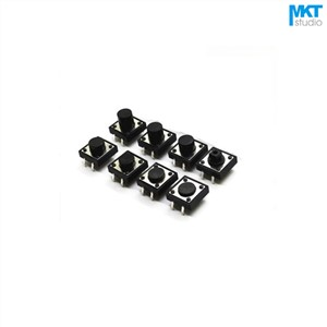 100Pcs Through Hole 12x12mm Height=4.3/4.5/5/5.5/6/6.5/7/7.5/8/8.5/9/9.5/10mm Micro Push Button Tactile Tact Momentary Switch