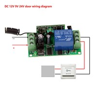 DC 9V 12V 24V 1 CH 1CH RF Wireless Remote Control Switch System Receiver+ 2X 2CH Wall Panel Transmitter,315 433.92MHZ,Toggle
