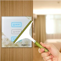 Original Funry ST2 3Gang EU Standard Touch Switch Lighting Luxury Tempered Glass Panel 170-240V 7-200W/gang 86*86*36mm