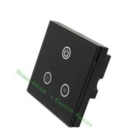 DIANQI Led light Dimmer Glass Panel wall switch adjusting brightnes Touch Dimmer Switch TM05