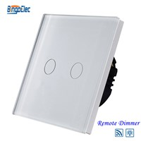 EU/UK standard 2gang1way remote dimmer switch,light dimmer switch for dimmable lamp