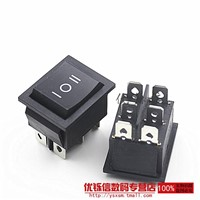 KCD4 BOX TYPE SWITCHING POWER SUPPORT RING BOX SWITCH 16A 6-pin 3-position double pole double throw black