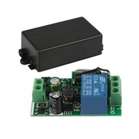 QIACHIP 433Mhz AC 85V ~ 250V 220V RF Relay 1CH Button Wireless Remote Control Switch Receiver Module and 433 Mhz Remote Controls