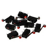 10 x Roller Lever Arm PCB Terminals Micro Limit Normal Close/Open Switch KW12-3 Switches 5A Favorable Price