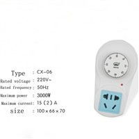 1 Hour Timer Socket Knob Switch, Pump Timing Pump Controller, Mechanical Countdown Timer Switch