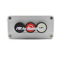 Three self reset button box flat button three waterproof switch box control button box cassette arrow button  xb2