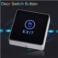 New Arrival Generic DC 12V NC NO Release Button Switch Square Touch Sensor Door Exit with LED Light Door Switch Button CM115