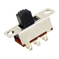 High Quality 10 Pcs 2 Position DPDT 2P2T Panel Mount Vertical Slide Switch 6 Pin 0.5A 50V DC