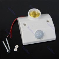 Details about  New Infrared Motion Sensor Automatic Light Lamp Bulb Holder Stand Switch White