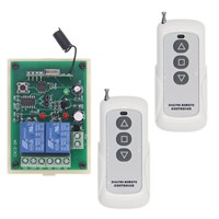 DC 12V 24V Remote Control Switch Motor Reversing Controller Output Intelligent Learning Code