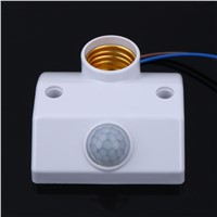 E27 220V Infrared Body Motion Sensor Automatic Light Holder Base Corridor Lamp Holder Adjustable Smart Light Delay Switch FULI
