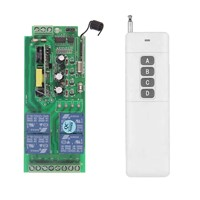 3000m AC 85V-265V 110V 220V 4 Channel 4CH RF Wireless Remote Control Switch System Receiver + Transmitter, 315 433.92 MHZ
