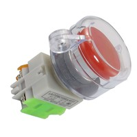Self Locking Contact Clear with Cover AC 660V 10A Red Emergency Stop Push Button Switch NO/NC safety Switch Electrical Equipment